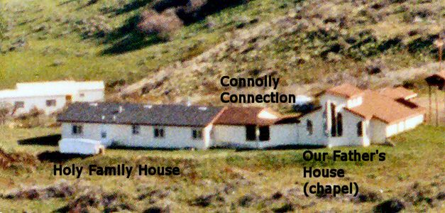 Aerial photo of Holy Family House, the Connolly Connection, and Our Father's House Marymount Hermitage Mesa, Idaho