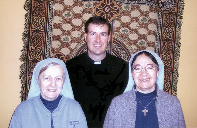 Father Robert Cook, Sister Rebecca Mary, HSM & Sister Mary Beverly